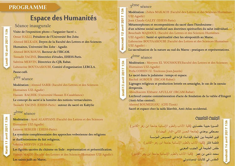 semaine Anthropologie programme