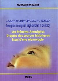 Les prénoms amazighes d'après des sources historiques
